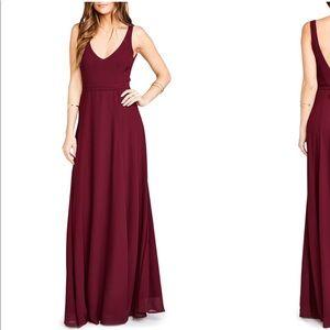 Show Me Your MuMu Jenn Maxi dress in Merlot